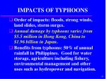 impacts of typhoons