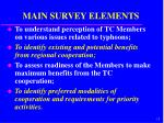 main survey elements