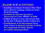 major tcp activities