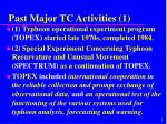 past major tc activities 1