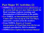 past major tc activities 2