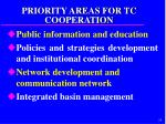 priority areas for tc cooperation