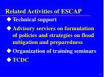 related activities of escap