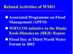 related activities of wmo