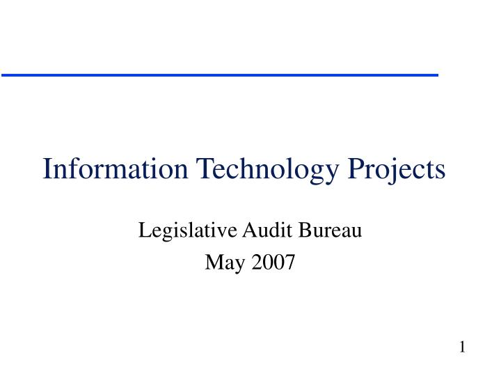 information technology projects n.