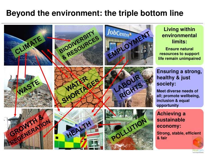 Beyond the environment: the triple bottom line