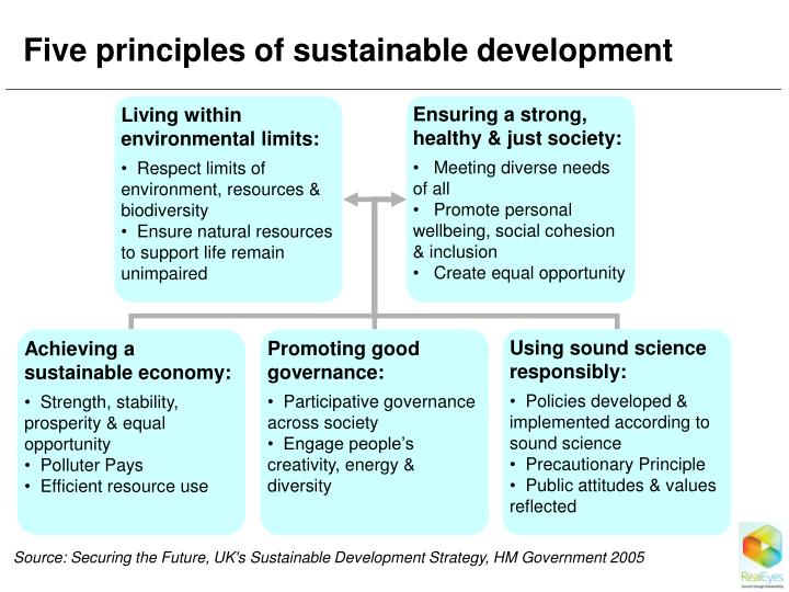 Five principles of sustainable development