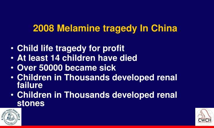 2008 Melamine tragedy In China