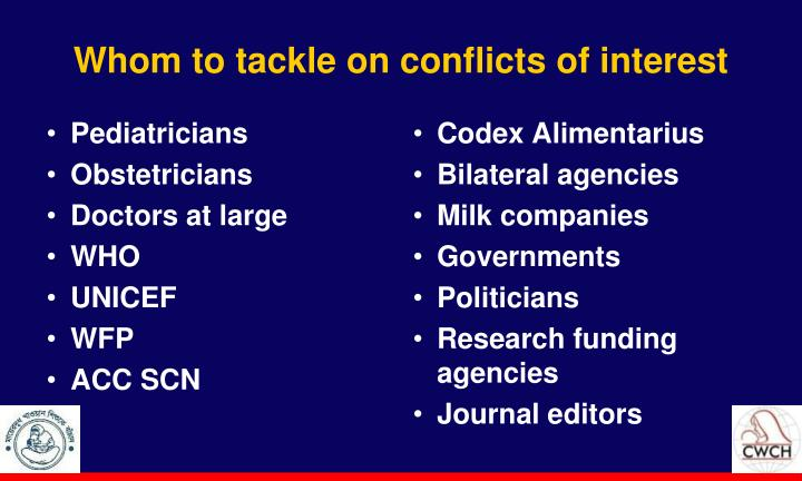 Whom to tackle on conflicts of interest