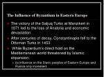 the influence of byzantium in eastern europe1