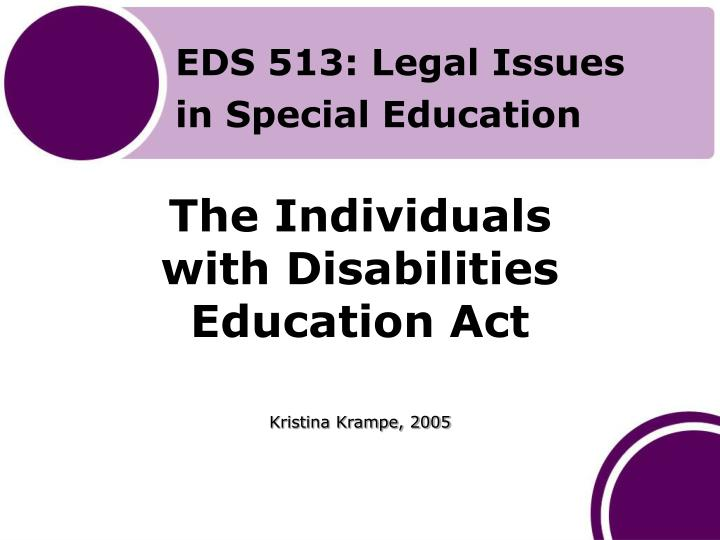 the individuals with disabilities education act n.