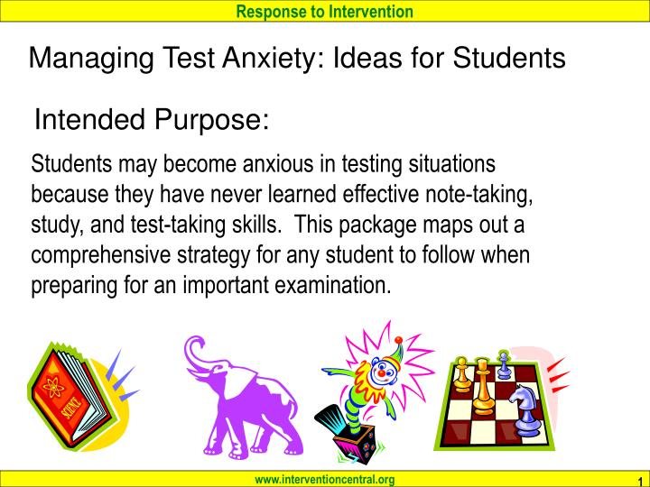 managing test anxiety ideas for students n.