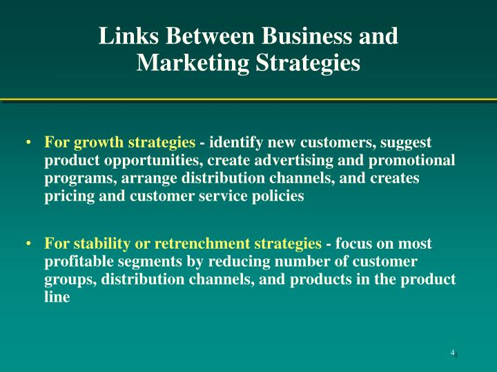 links between strategic marketing and corporate strategy Strategic vision is the first step in formulating and implementing strategy a company's strategic vision provides the logical reason for future plans and directions of the company, and.