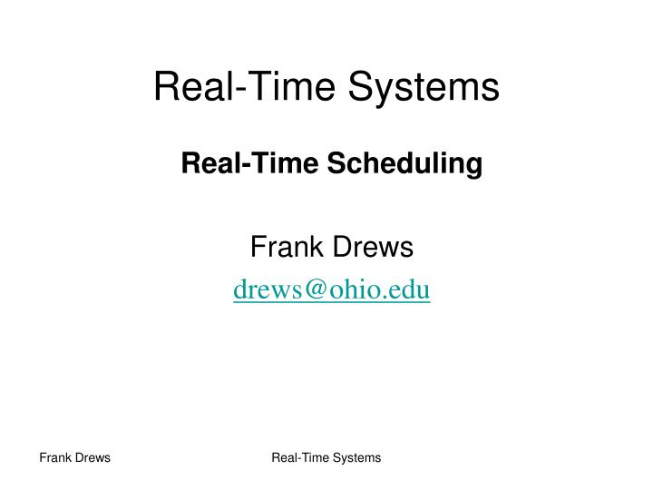 real time systems n.