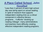 a place called school john goodlad