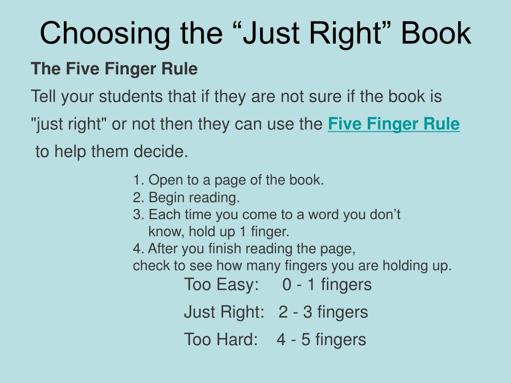 "Choosing the ""Just Right"" Book"