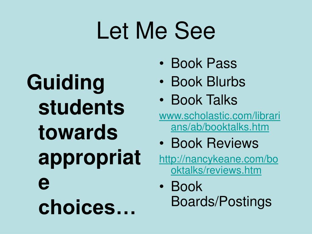 Guiding students towards appropriate choices…