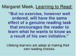 margaret meek learning to read