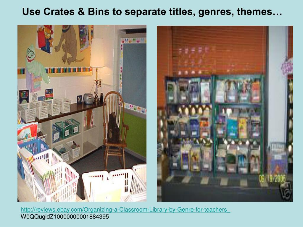 Use Crates & Bins to separate titles, genres, themes…