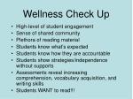 wellness check up