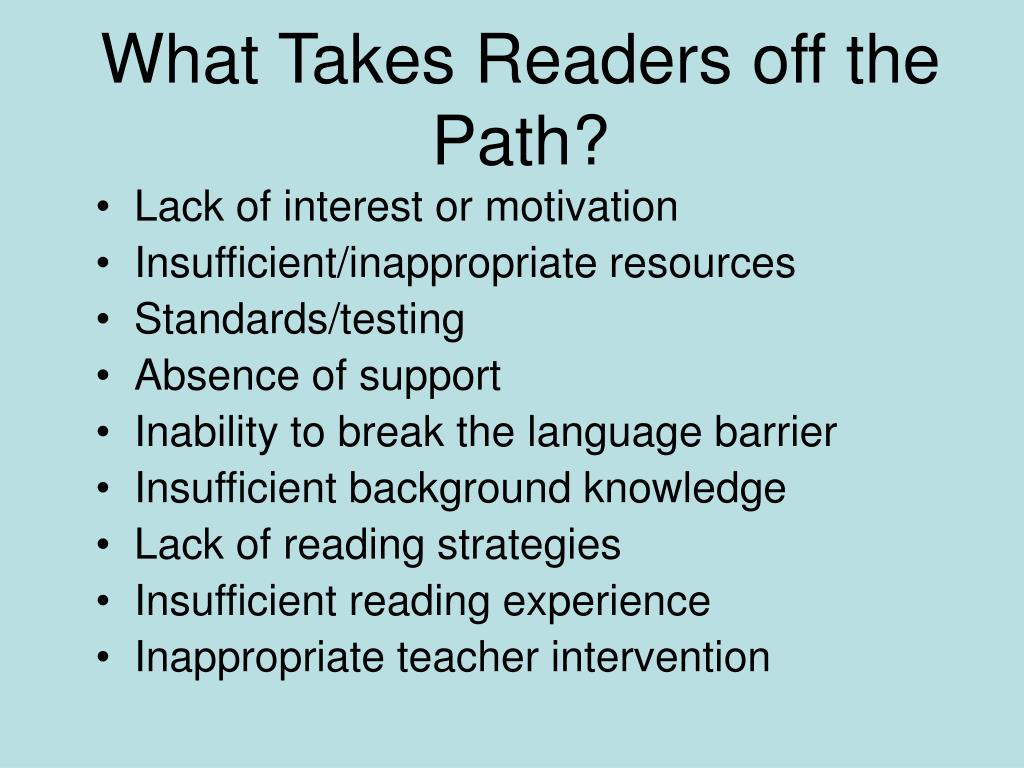 What Takes Readers off the Path?