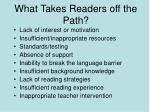 what takes readers off the path