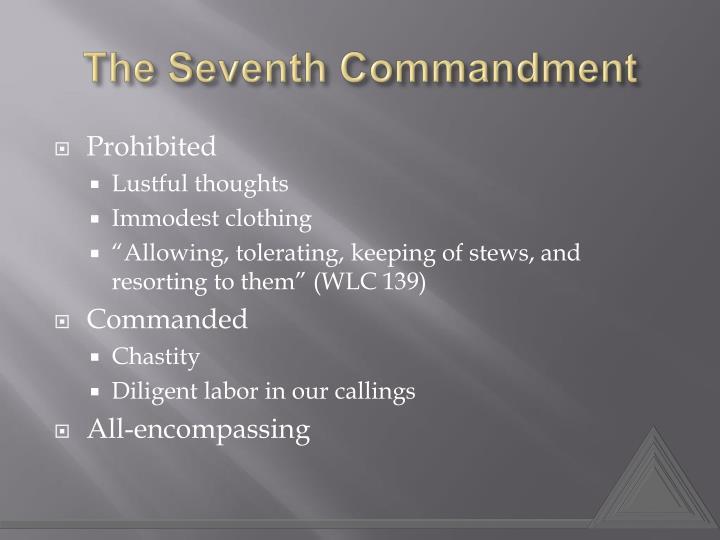 The seventh commandment1