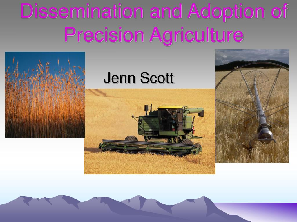 dissemination and adoption of precision agriculture l.
