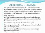 nsccd 2009 survey highlights