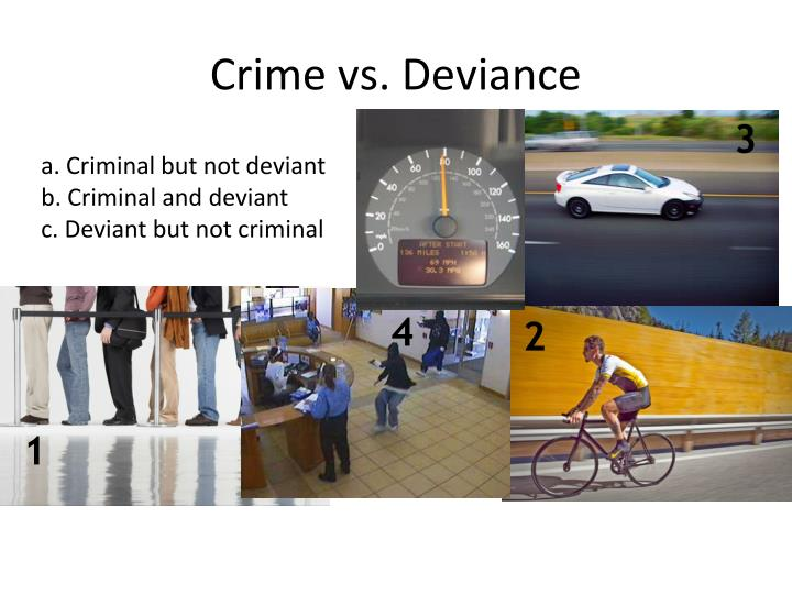 deviance vs crime Introduction to sociology/deviance from wikibooks the first, crime is the violation of formally enacted laws and is referred to as formal deviance.