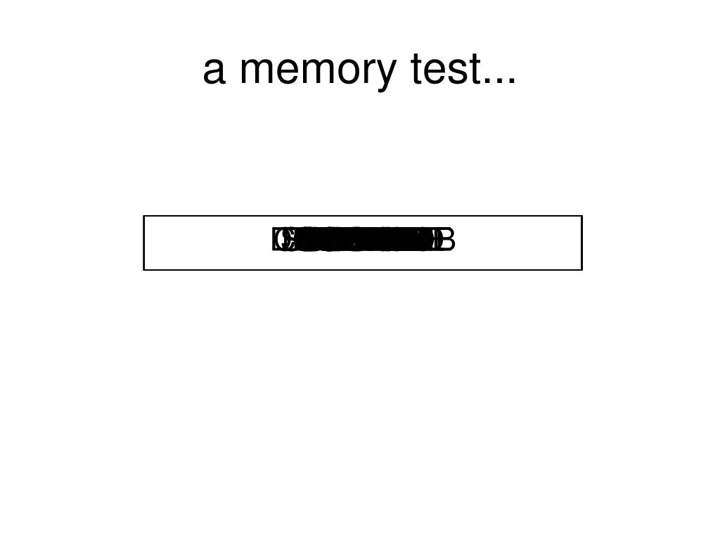 a memory test...