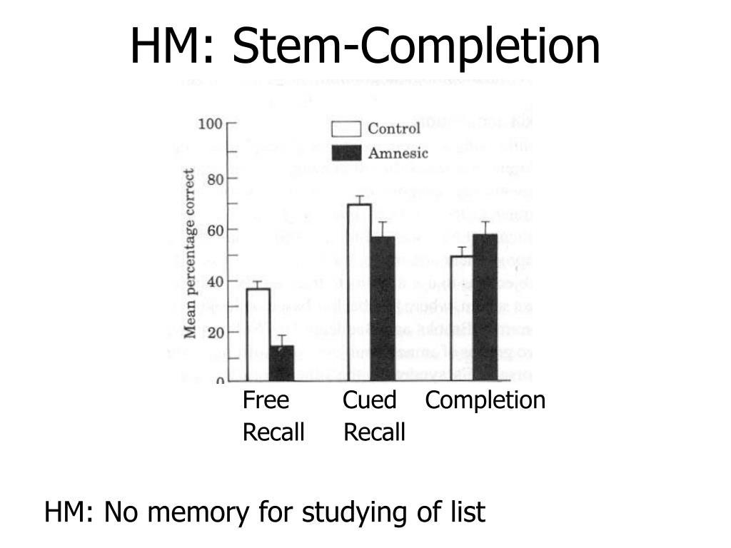 HM: Stem-Completion