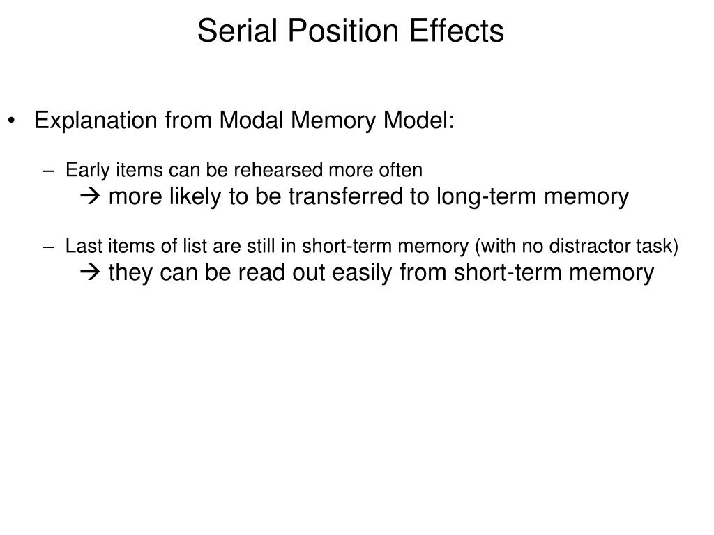 Explanation from Modal Memory Model: