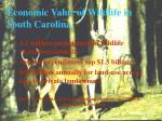 economic value of wildlife in south carolina