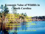 economic value of wildlife in south carolina2
