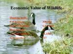 economic value of wildlife