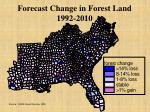 forecast change in forest land 1992 2010