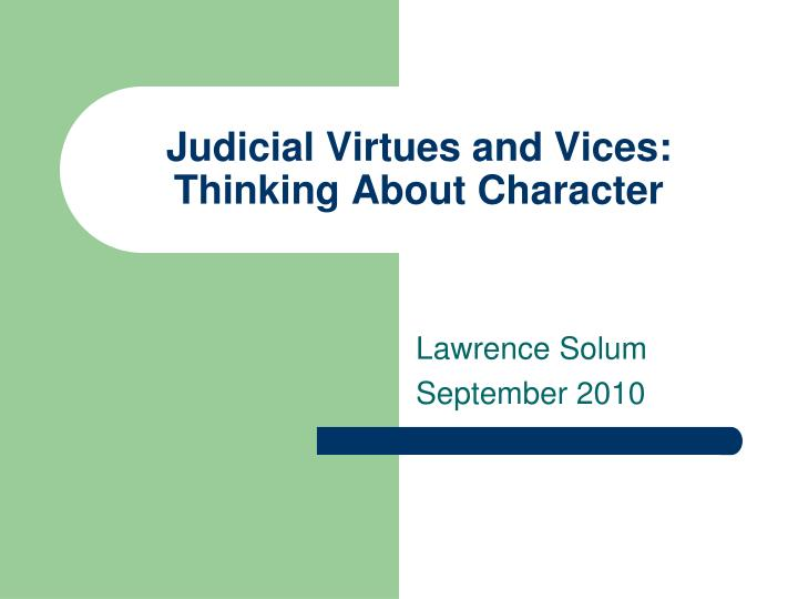 virtue and character