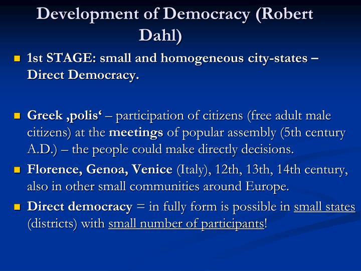 on democracy robert dahl