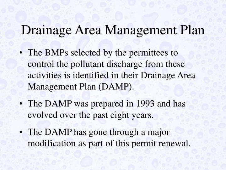Drainage Area Management Plan