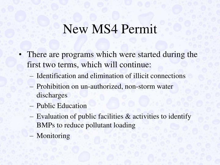New MS4 Permit