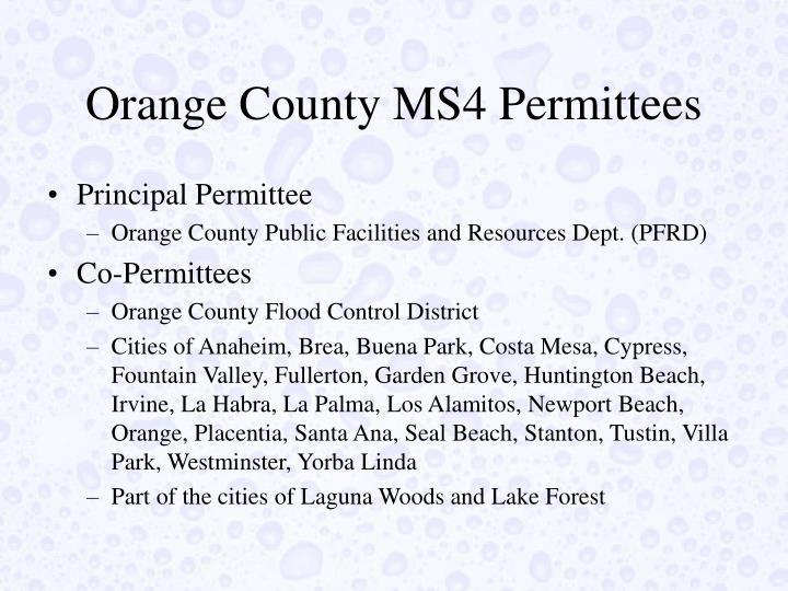Orange County MS4 Permittees