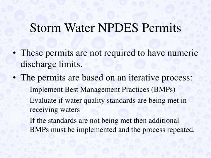 Storm Water NPDES Permits