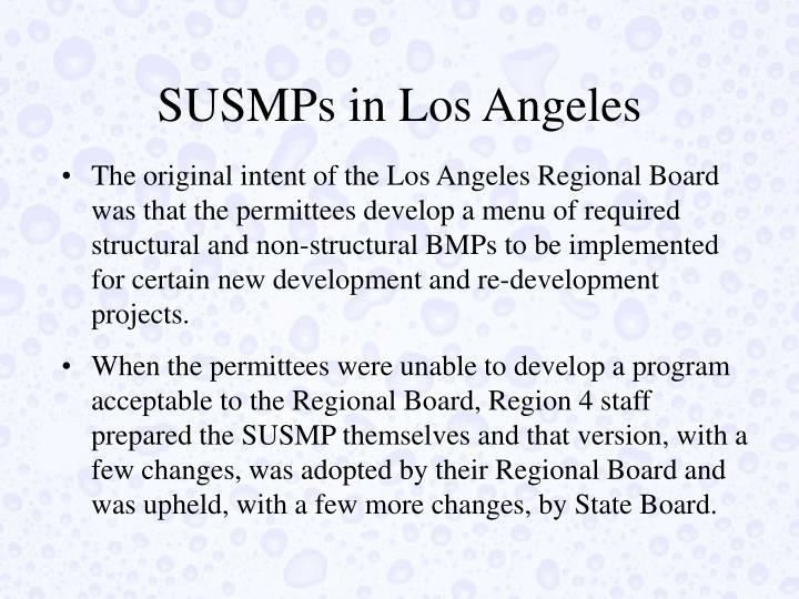 SUSMPs in Los Angeles