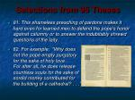 selections from 95 theses1
