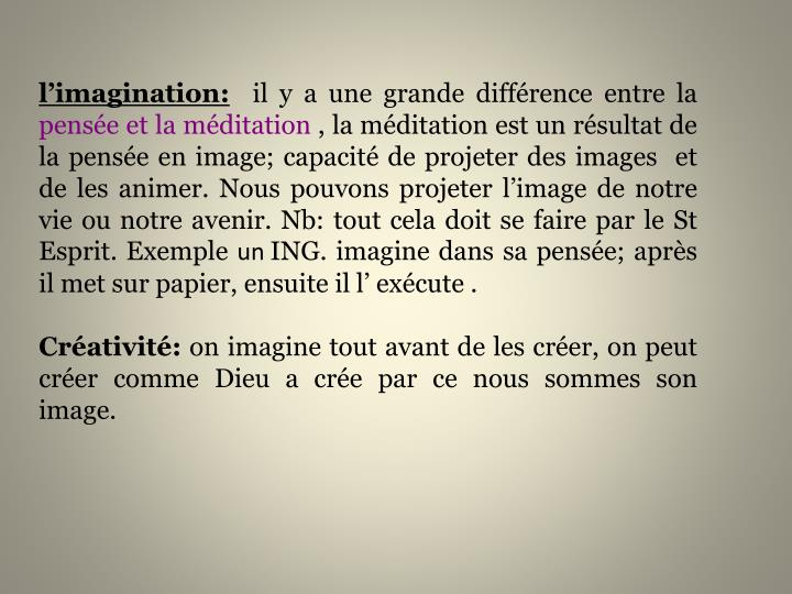l'imagination:
