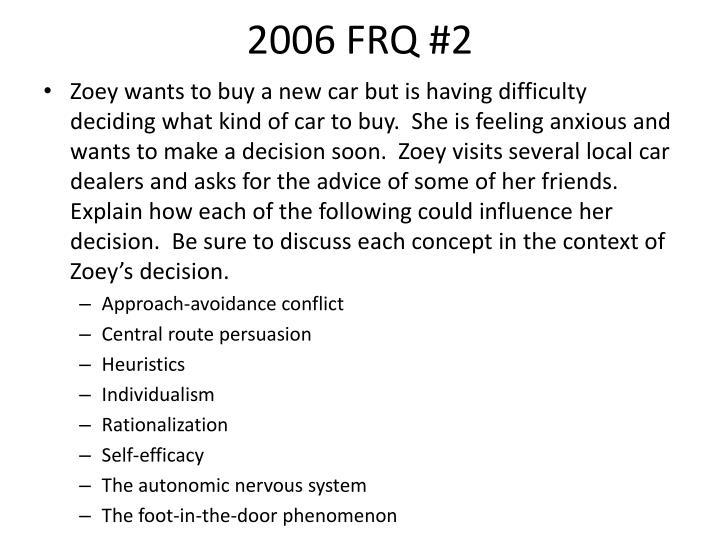 2006 FRQ #2