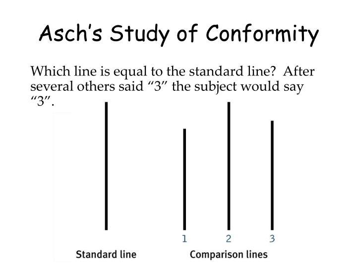 Asch's Study of Conformity