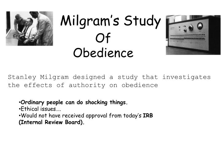 Milgram's Study