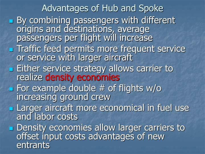 Advantages of Hub and Spoke
